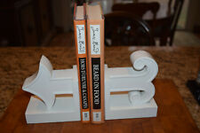 Jonathan Adler Bookends Happy Chic Contemporary White Arrow