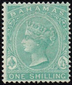 Bahamas 1863-80 1s. green, MH (SG39b)