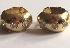 Vintage 14ct Yellow Diamond Wedding Band Earrings