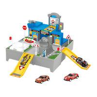 Kids Parking Lot Track Playground 2 x Racing Cars & Garage Set Christmas Gift UK