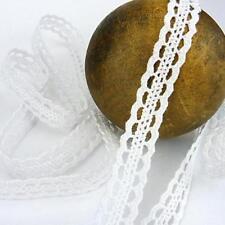 Buddly Crafts 12mm Cotton Crochet Lace - 2m White Double Scallop Edge L18