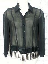 Charlie Brown Size 10 Skirt Shirt Set Black Fringe Special Occasion Boho Casual