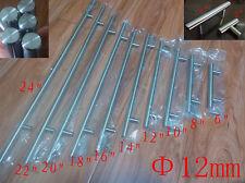 "Ø12mm Stainless Steel Kitchen Door Cabinet T Bar Handle Pull Knob 2"""