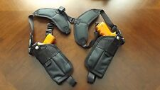 Vertical Double Holster Shoulder Rig HIGH HI- POINT JHP 45 auto w/ Laser ..USA