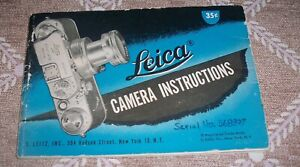 Genuine Vintage, Blue Cover, Leica Instruction Manual for IIIf(3F) Camera