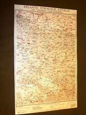 Carta geografica o mappa Firenze Bologna Fucecchio Touring Club Italiano 1922