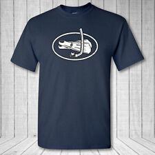 Buceo Ovalado Camiseta, Snorkelers Aspas Océano Lake Natación Emblema Camisa