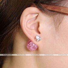 Markenloser Mode-Ohrschmuck mit Kristall-Hauptstein für Damen