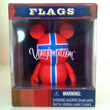 "DISNEY VINYLMATION 3"" FLAGS NORWAY OSLO COLLECTIBLE VINYL TOY FIGURE NIB FLAG"