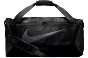 New Nike Brasilia 9.0 CU1029-010 Duffle Bag Black Gray
