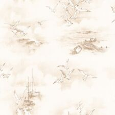 Essener Tapete Global Fusion G56425 möven Sea Beach Boat Fleece Wallpaper