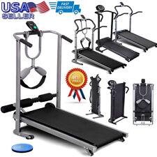 Top Treadmill Adjustable Incline Manual Mechanical Folding Running Machine