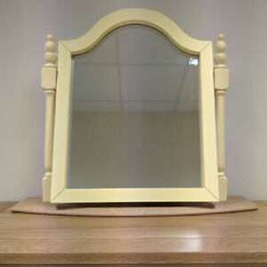 Oak Cream Painted Swing Mirror / Table Mirror / Bedroom / Brand New Dorchester