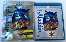 DISNEY ALADDIN BLU RAY + DVD 2 DISC SET + SLIPCOVER FREE WORLDWIDE SHIPPING