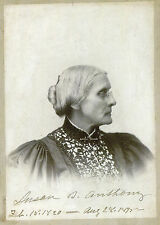 SUSAN B ANTHONY 1820-1906 Signed Photograph Social Reformer SUFFRAGETTE preprint