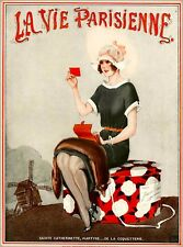 1920s La Vie Parisienne Dutch Girl Holland France French Travel Art Poster Print
