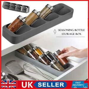 8 Drawer Condiment Seasoning Bottle Cabinet Storage Box Spice Jar Rack Organizer
