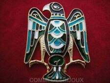 "Broche ""Aigle Royal"" Turquoise By FRIED Grand Rapace - Bijoux pur Collection"