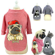 Cute Dog Clothes For Small Dogs Cats Pug Chihuahua Clothes Cotton Vest T-shirts
