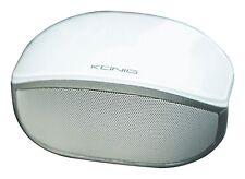 Konig Portable Stereo Bluetooth Speaker White