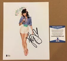 KATY PERRY Signed Autographed 8x10 Photo BECKETT BAS COA