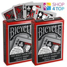2 DECKS OF BICYCLE TRAGIC ROYALTY PLAYING CARDS GLOWS UNDER BLACK LIGHT USA NEW