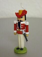 Miniatur Nußknacker Musketier rot Erzgebirge Seiffen NEU Weihnachten Volkskunst