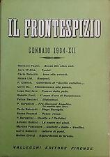 RIVISTA IL FRONTESPIZIO 1934 ANNATA COMPLETA 12 NUMERI VALLECCHI LETTERATURA