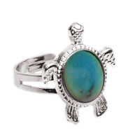 Charming Chic 1PC Mood Ring Changing Color Turtle Adjustable TemperatureNSH