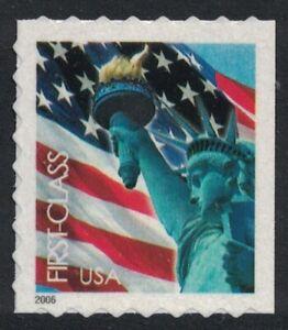Scott 3975- Lady Liberty & Flag- Booklet Issue, Perf. 8- MNH 39c 2006- mint