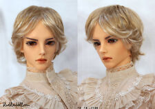 "1/3 bjd 8-9"" doll wig copper & blonde 2 color mixed Luts Iplehouse Soom dollfie"