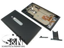 Nokia Lumia 800 Cover Gehäuse Seiten Taste Antenne Kamera Linse Glas Schwarz