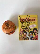 Bobs Burgers Talking Burger Button Bob Belcher Louise Belcher SIGNED by Artist