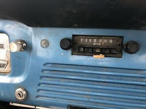 jeepster commando radio jeep commando