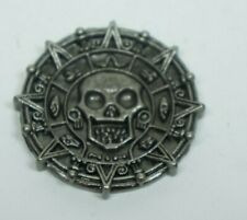 Pirates of the Caribbean Metal silver Toned Aztec Coin Replica