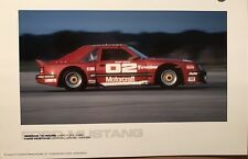 Ford Mustang Sebring 12 Hours 1982 Racing Car Poster! Stunning! Own It!!