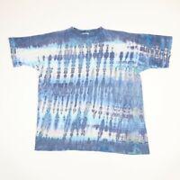Vtg 90s Earth Tribe Tie Dye TShirt XL Faded Distress Hippie Grunge Single Stitch