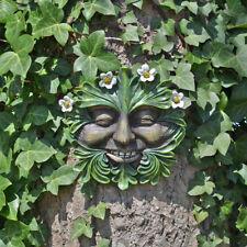 Tree Ent Face Leaf Plaque Wall Garden Ornament Greenman Myth Daisyhead 80605