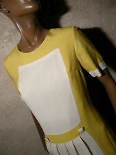 CHIC VINTAGE ROBE 1960 VTG DRESS 60s MOD TWIGGY KLEID 60er ABITO ANNI 60 (38)