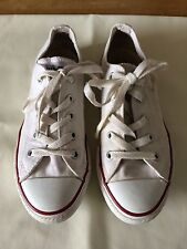 Converse All Star Original Kid's Beige Lace-up Trainers Sneakers Size 2 UK NICE
