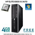 HP Compaq 8300 Elite Desktop Computer i5-3470 3.20Ghz 4Gb Ram Win 7 Pro PC