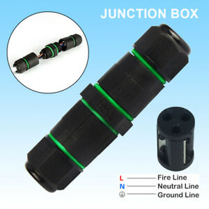 Waterproof 3 Way Junction Box Outdoor 3 Pin IP68 Electrical Cable Wire Connector