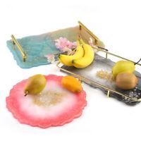 Big Tray Silicone Mold Fluid Artist Making Irregular Coaster Resin Art Suppl Bu