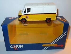 CORGI TOYS MADE GREAT BRITAIN 1985 FOURGON VAN MB MERCEDES 207 D SWISS PTT #554