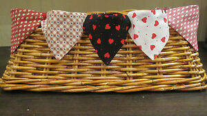 Love Heart Valentine Cat Dog Bandana