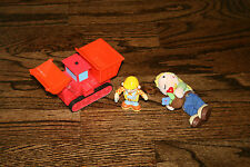 "Bob the Builder Electronic Talking 6"" Muck, 5"" Plush Wendy, 3"" Pvc Bob Figure"