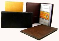 Cowhide Leather Men Women Wallet ID Business Credit 120 Card Organizer US Seller