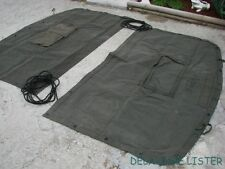 1x US Military Truck M35 a2 Canvas Cargo Cover End Curtain 2.5 & 5 Ton NOS