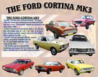 FORD CORTINA MK3 CLASSIC CAR MOUSE MAT LIMITED EDITION