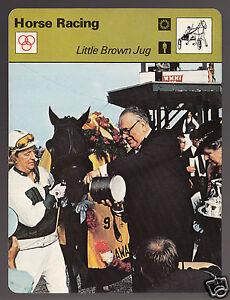 LITTLE BROWN JUG Horse Racing William Wirtz John Chapman 1978 SPORTSCASTER CARD